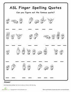 Finger Spelling Practice | Education.com | Sign language ...
