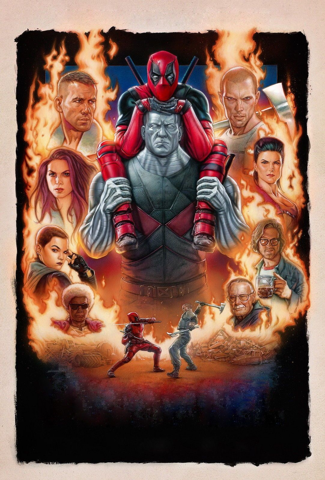 DEADPOOL 2 UNICORN IMAX MOVIE POSTER MARVEL FILM A4