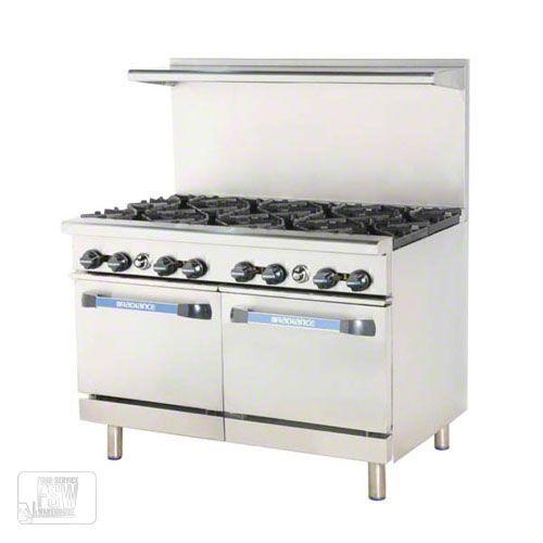 Turbo Air Tar 8 48 Open Burner Restaurant Range Radiance Series Foodservicewarehouse Com Range Cooker Commercial Kitchen Cooking Equipment