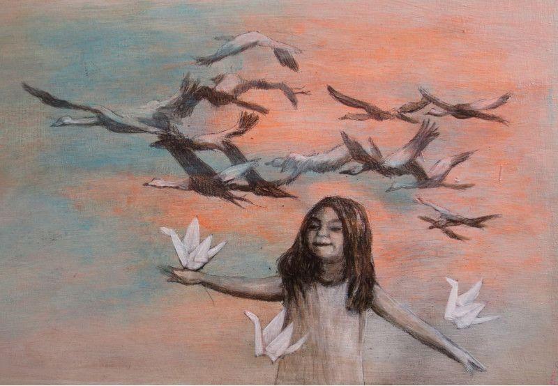 Grusskarte: Zugvögel von theodora auf DaWanda.com