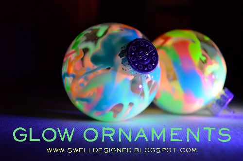 The Swell Life Diy Glow In Dark Ornaments With Fabric Paint