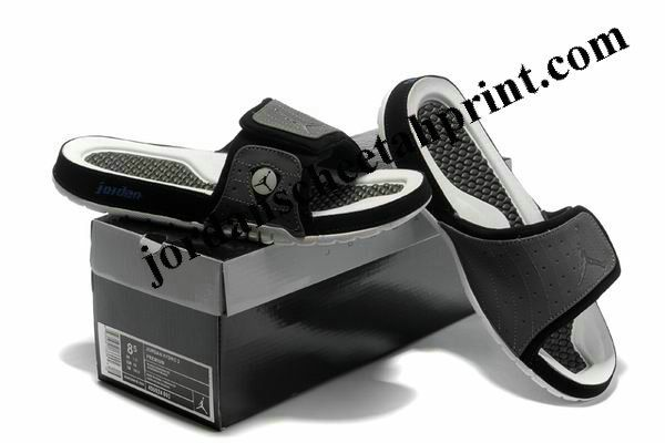 f8c8918f29bf Cheap Air Jordans 14 Massage Slippers Grey White Black