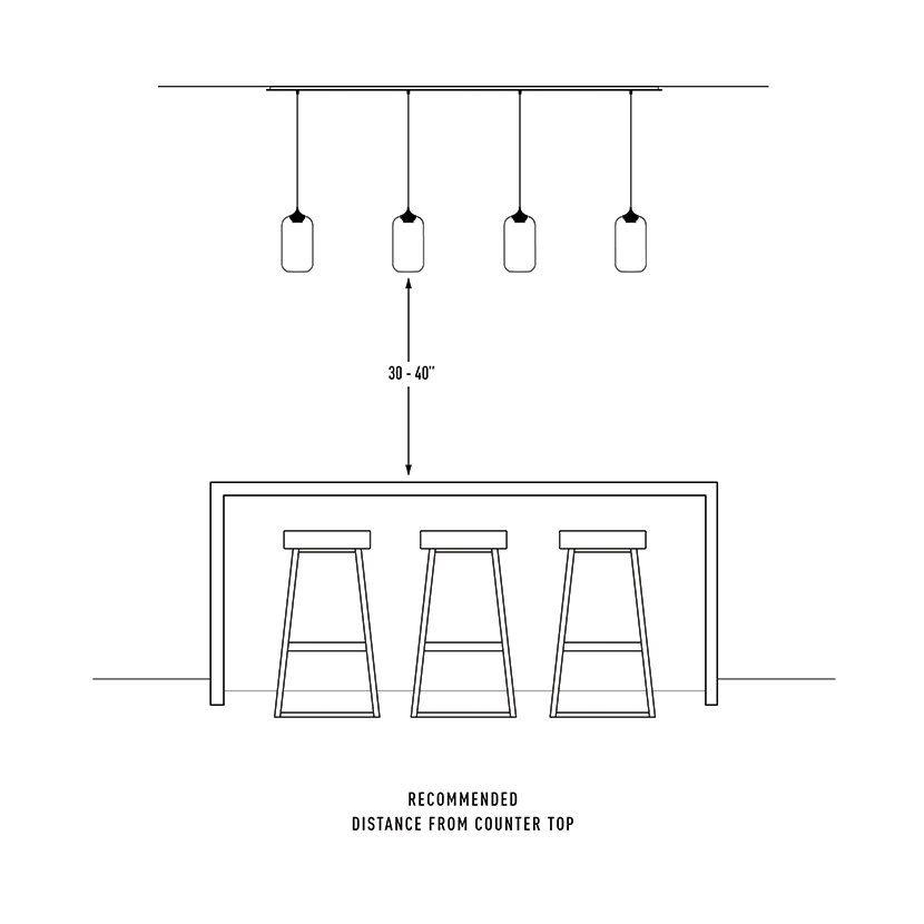pendant light installation distance from kitchen island - Pendant Light Installation Distance From Kitchen Island Dream