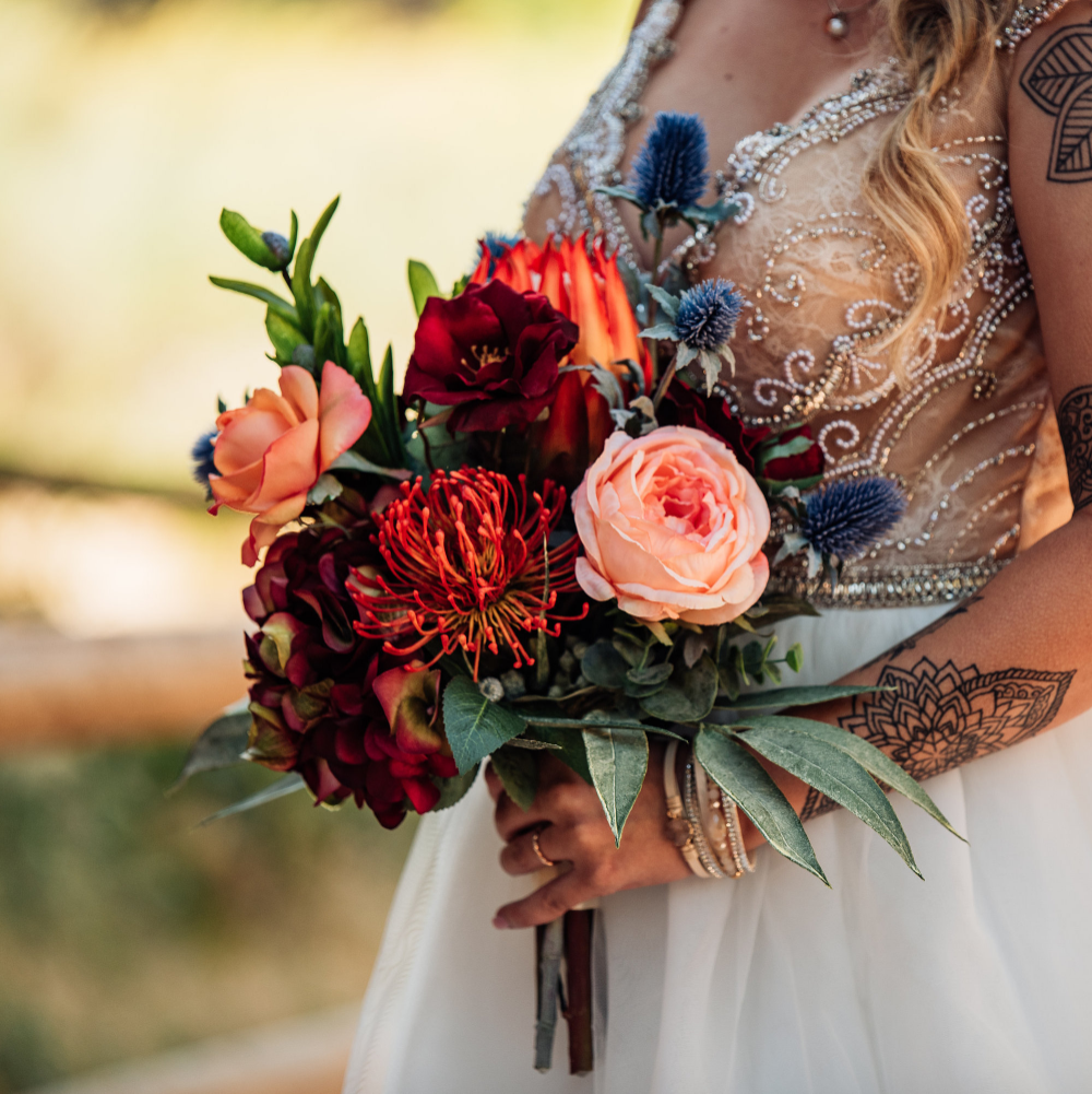 Bridal Bouquet for Destination Wedding, Fall Wedding Bouquet, Boho Bridal Bouquet, Adventure Elopement Flowers, Rustic Wedding Bouquet