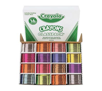 Crayola Classpack Standard Crayons 16 Assorted Colors Pack Of