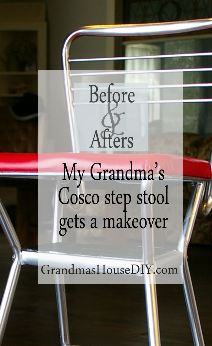 My Grandma S Old Cosco Step Stool Stool Makeover Chair