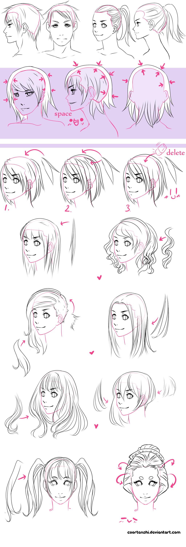 A hair tutorial by CoorTenshiviantart on deviantART