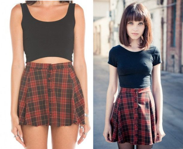 Skirt, 36£ at m.topshop.com - Wheretoget | Clothes, Plaid skirts ...