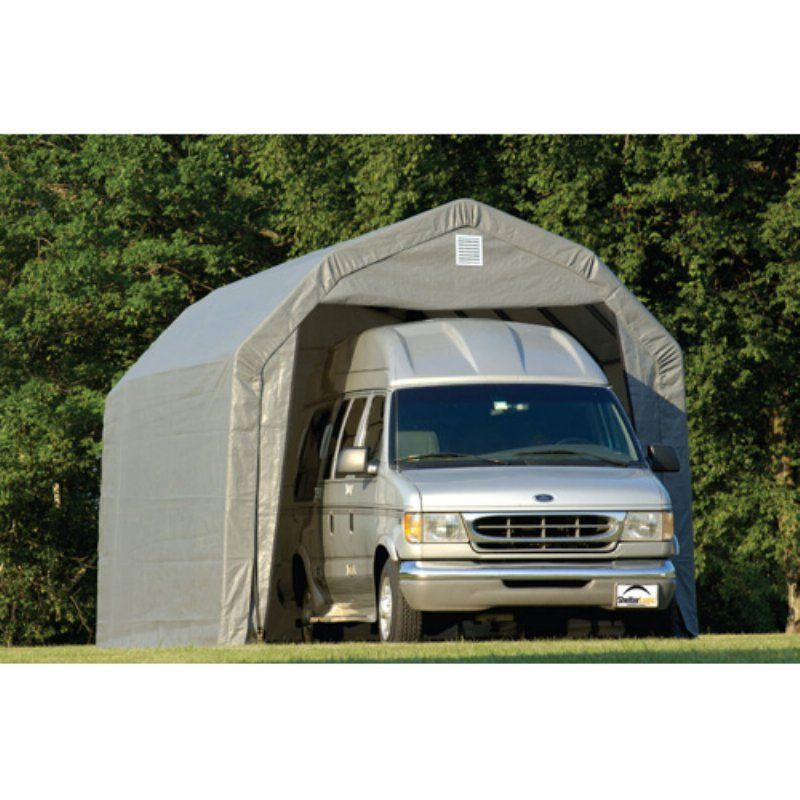 ShelterLogic 12 x 24 x 9 ft. Barn Canopy Carport Green