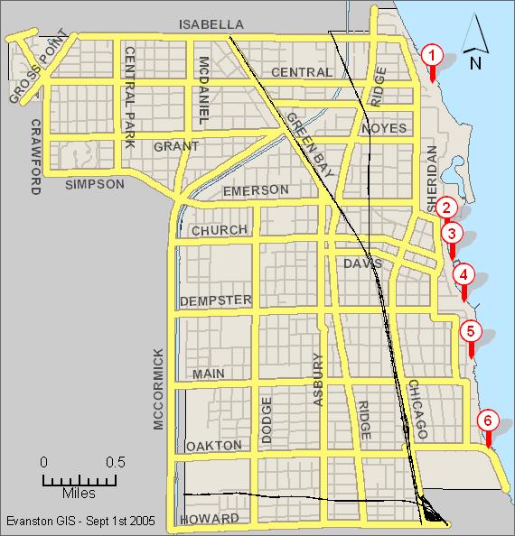 beach map Evanston beaches activities for kids Pinterest