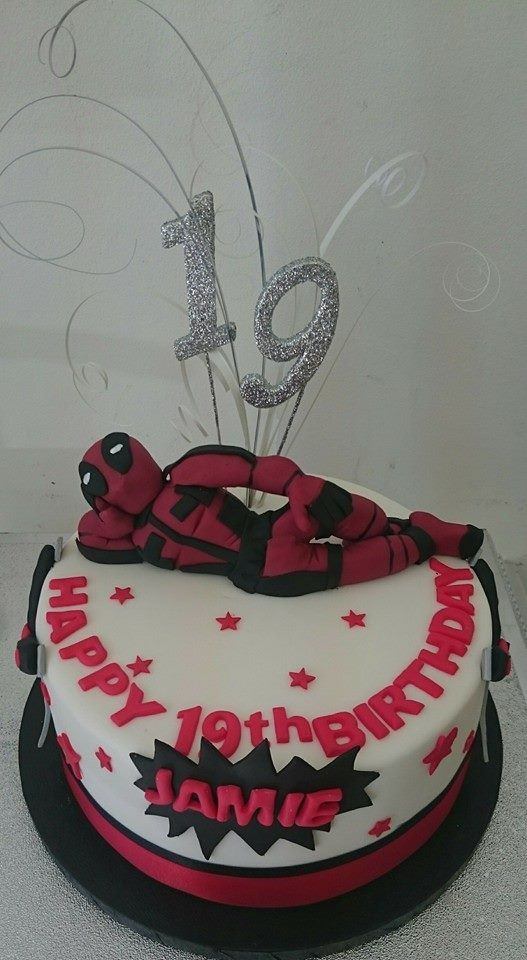 Deadpool 19th Birthday Cake