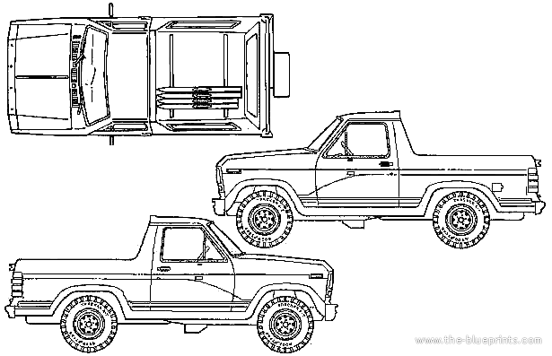 Ford Bronco 1980 Trucks Coloring Pages Touring