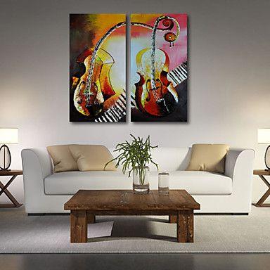 Peint à la main AbstraitModern Deux Panneaux Toile Peinture à l