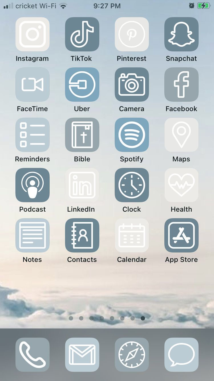 Blue Skies Ios 14 App Icons 50 Pack In 2020 App Icon App App Pictures
