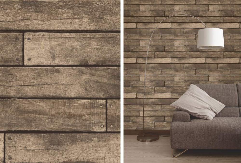 Fine Decor Brown Wooden Plank Realistic Wood Design 3d Effect Wallpaper 5011419312894 Ebay Wood Effect Wallpaper Rustic Wood Wallpaper Wood Design