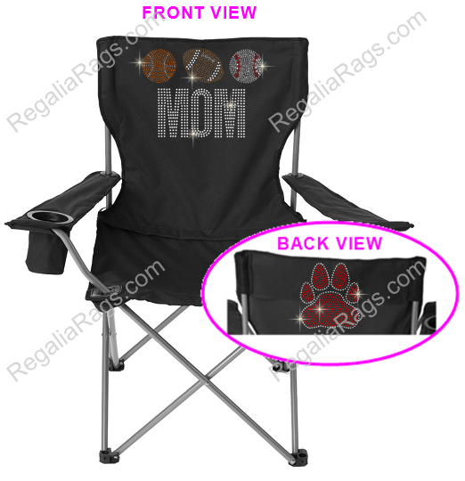 Custom Rhinestone Or Glitter Print Fan Sports Lawn Chair Customize This Chair With Your Team Name Logo Image Player Name A Sports Mom Football Mom Team Mom