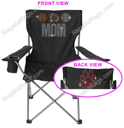 Glitter Print Fan Sports Lawn Chair