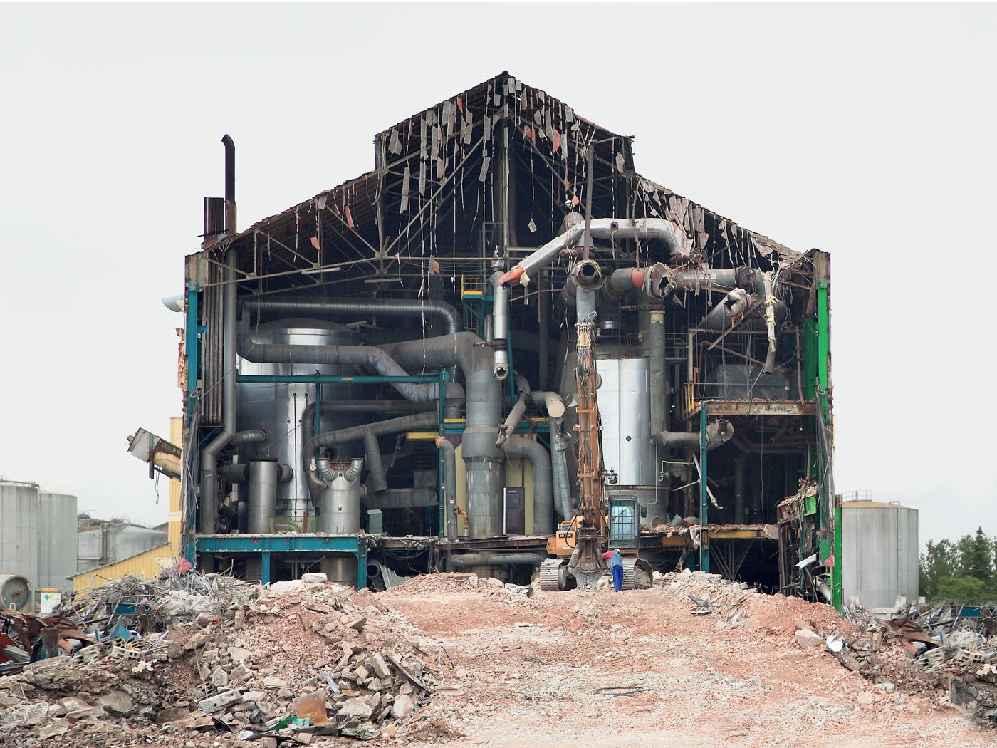 Factory being demolished in ChâlonsenChampagne Marne