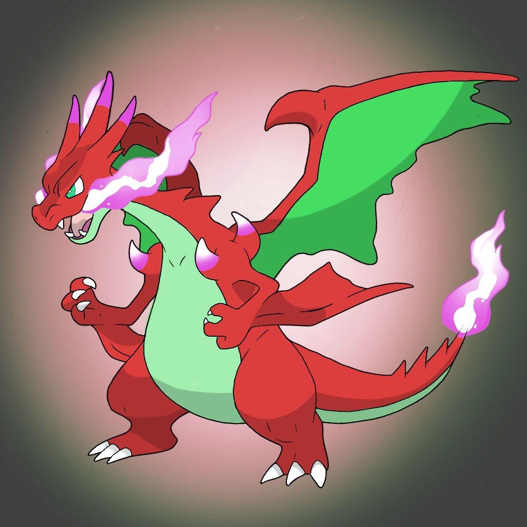 Crimson Charizard - Mega Charizard XY-Fusion. FAKEMON | Pokémon species,  Pokemon, Pokemon fan art