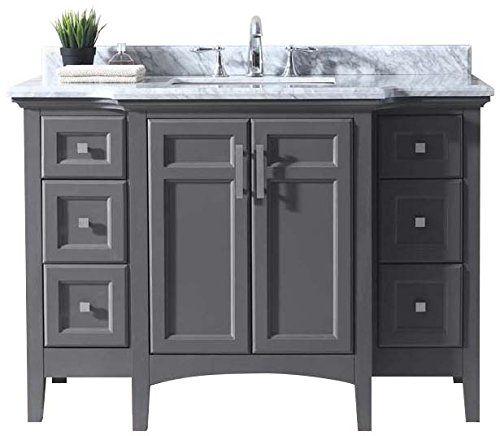 Ari Kitchen and Bath Luz Single Bathroom Vanity Set Akb-Luz-48-Mpgr