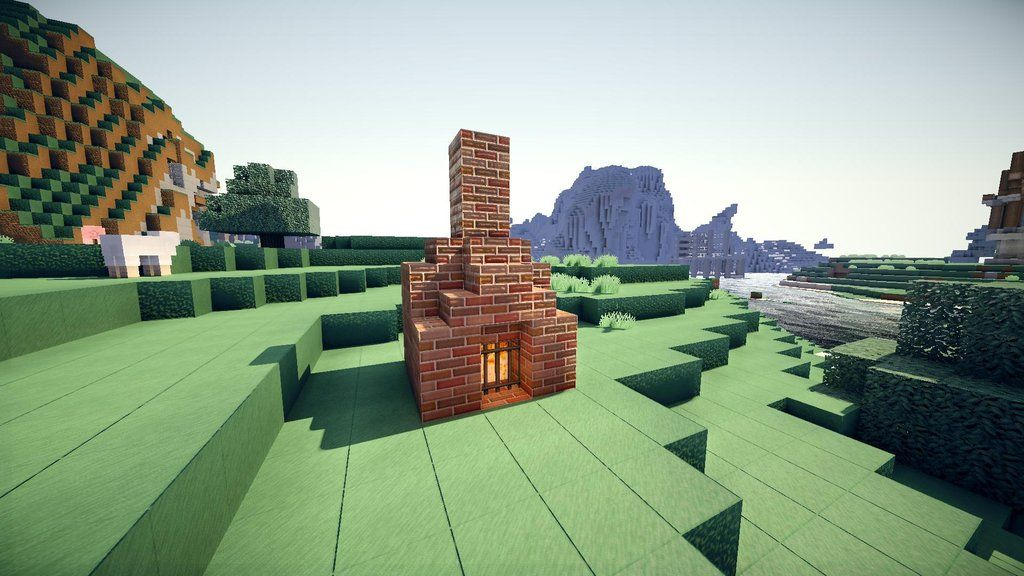 Fireplaces | Minecraft building, Fireplace, Building