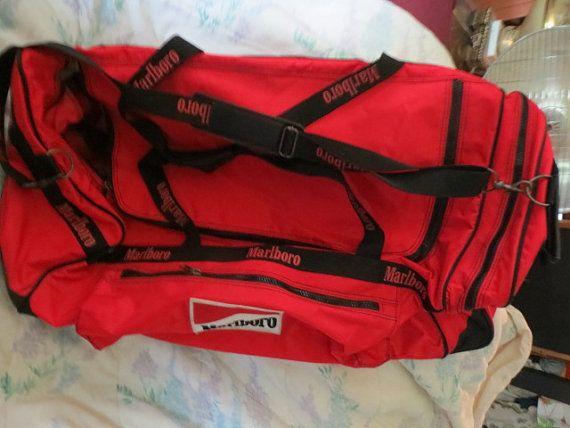 Vtg Large Marlboro Bag Suitcase Pull By Linsvintageboutique