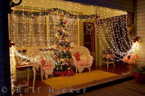 So So Charming Christmas Lights Curtains Porch Christmas Light Displays