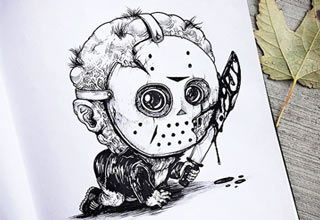 drawings of horror characters