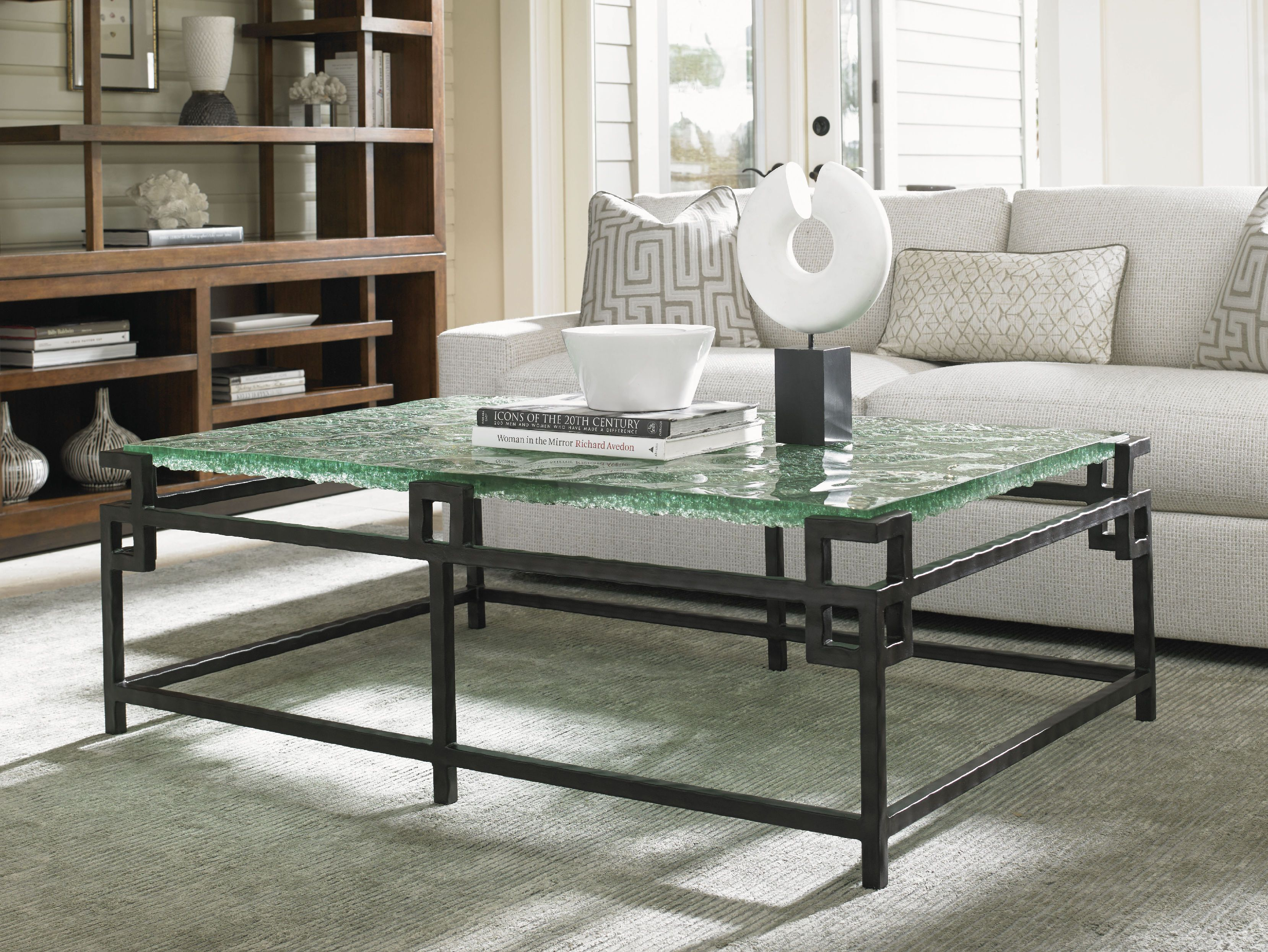 Tommy Bahama Home Living Room Hermes Reef Glass Top Cocktail Table ... ed9b24ef76