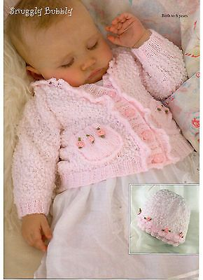 girls child cardigan and top 4 ply knitting pattern 99p