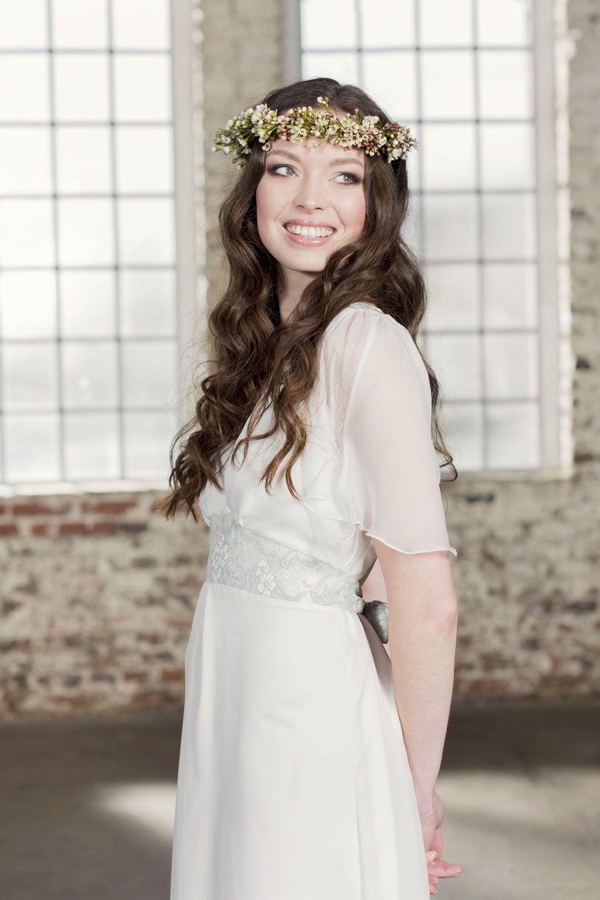 Labude - Brautkleid Marie Vintage Wedding, Chiffon, Seide, Braut ...