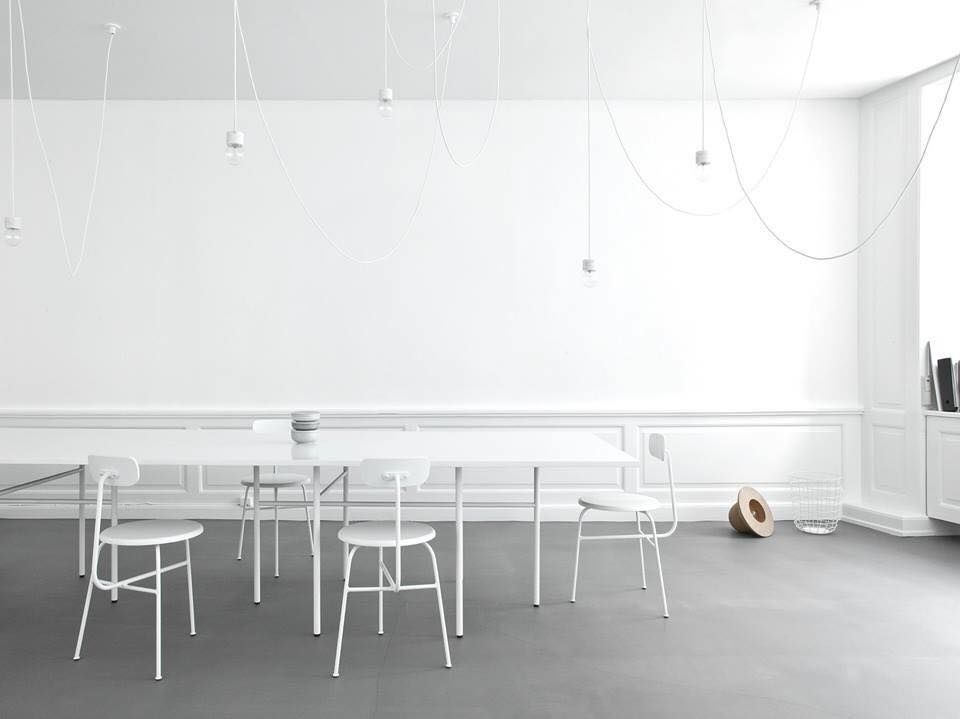 Table Snaregade & Afteroom Chair by Menu A/S at Norm Architects studio in Snaregade