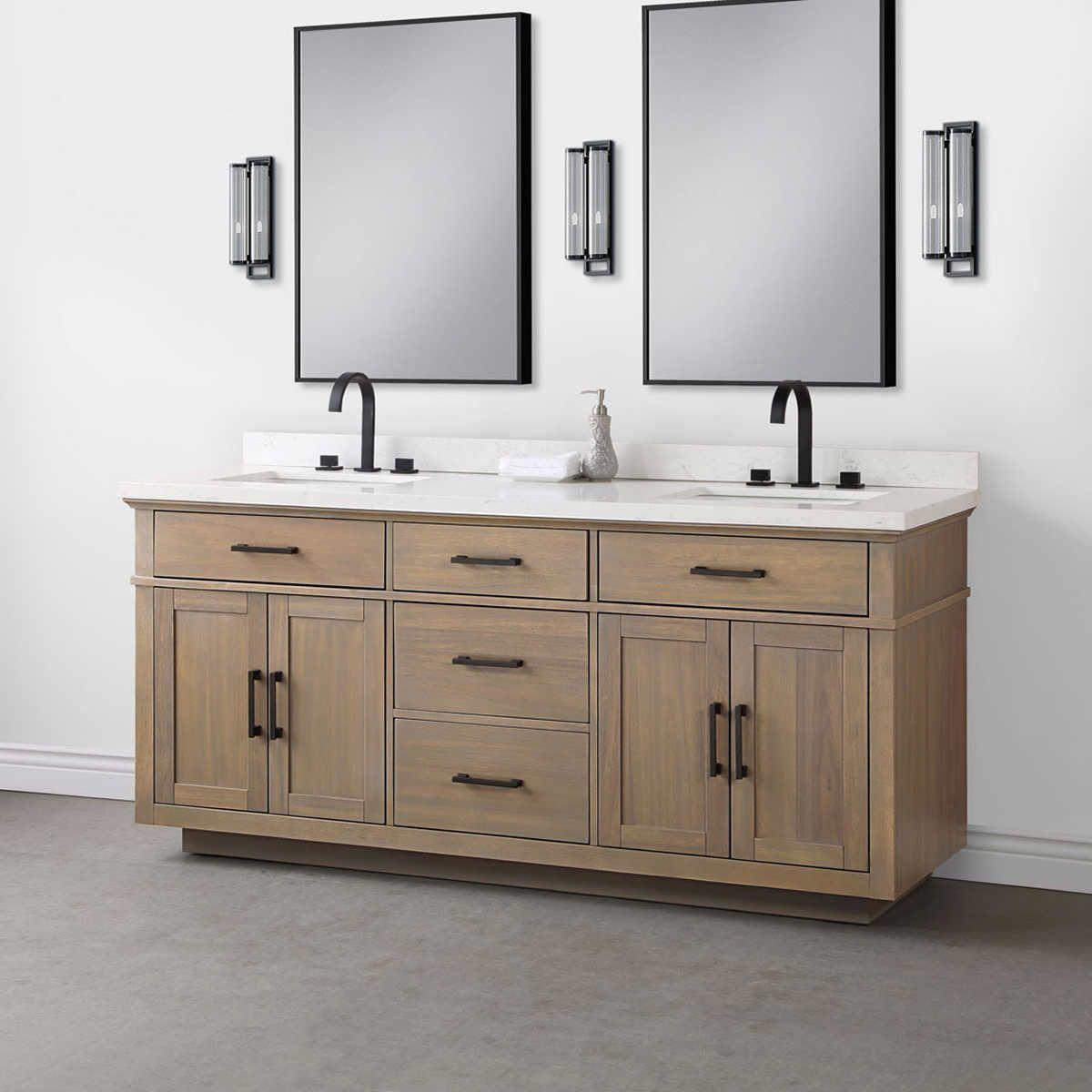 Brown 4 Vanity Double Sink Vanity 72 Vanity [ 1200 x 1200 Pixel ]
