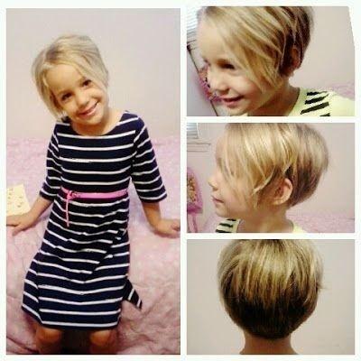 Coupe courte fillette   Coupe cheveux fillette, Cheveux courts fillette, Coupe courte fillette