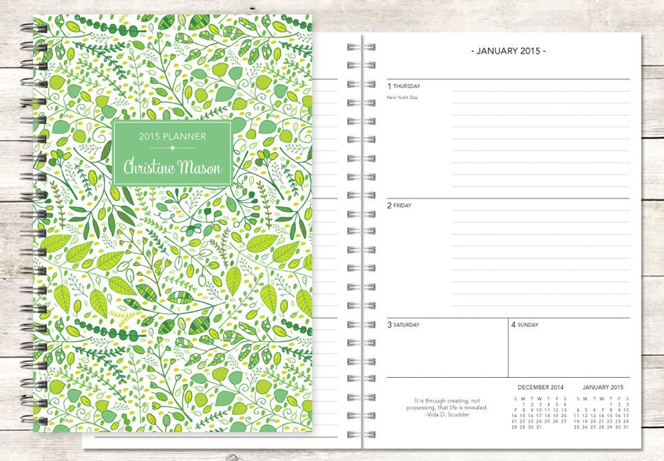 Planner Calendar Choose Start Month  Add Monthly Tabs Weekly