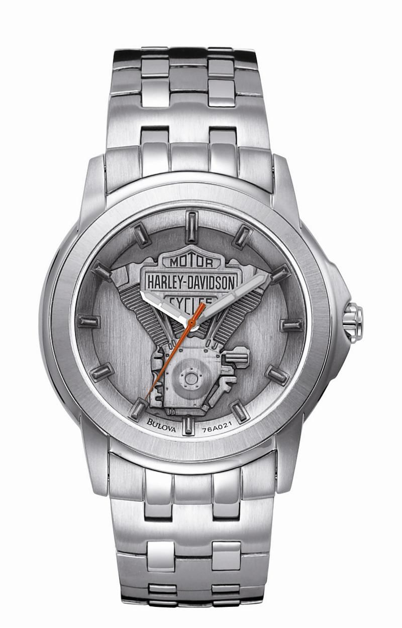 mens harley davidson stainless steel v twin watch by bulova 76a021 mens harley davidson stainless steel v twin watch by bulova 76a021