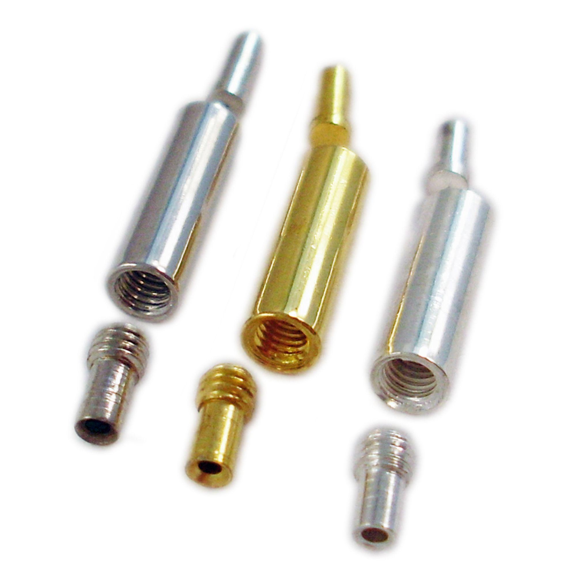 10 Dreh Verschlüsse für 1mm Draht 4x13mm silber gold Schmuck ...