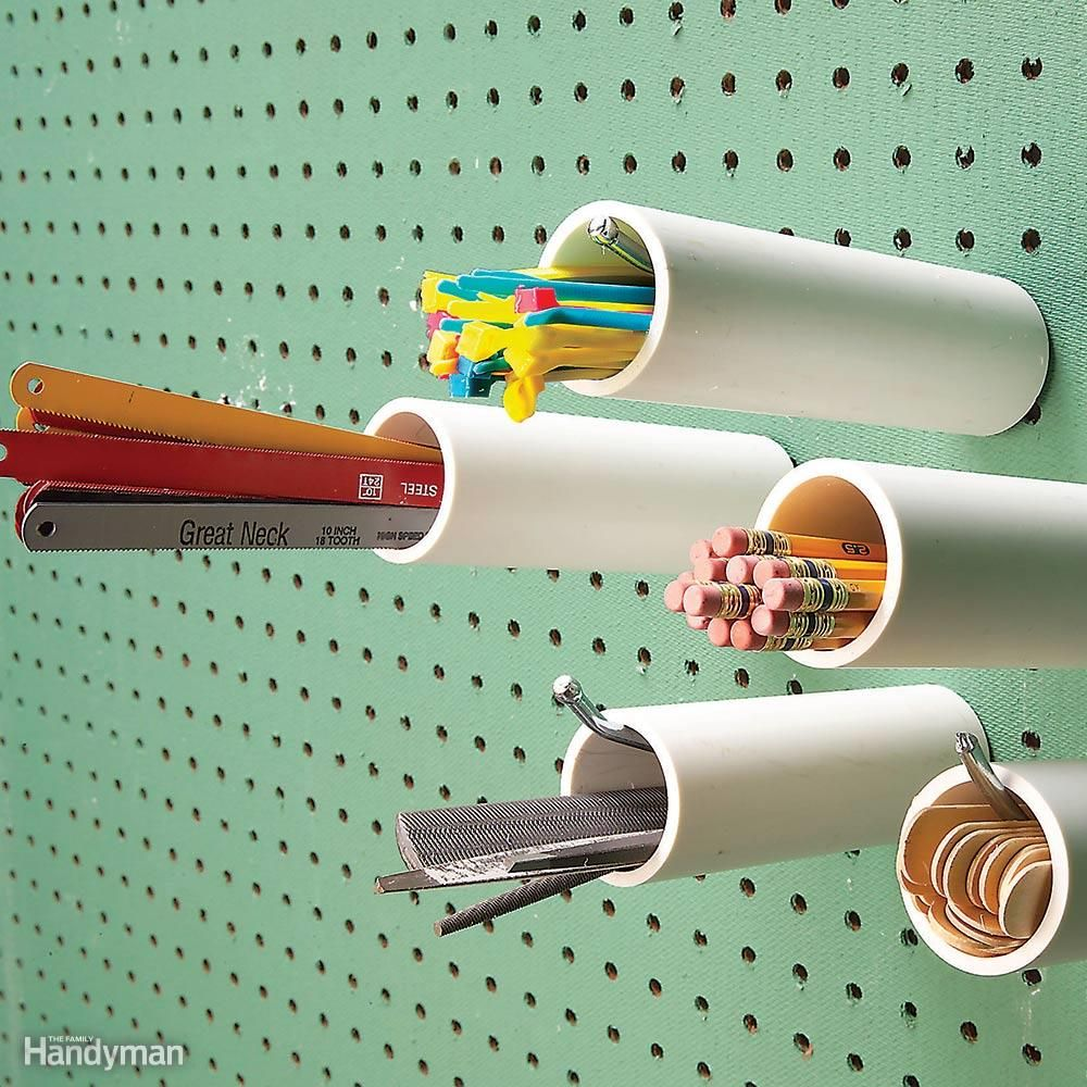 Pvc Hacks Peg Board Garage Organization Tips Pegboard Storage