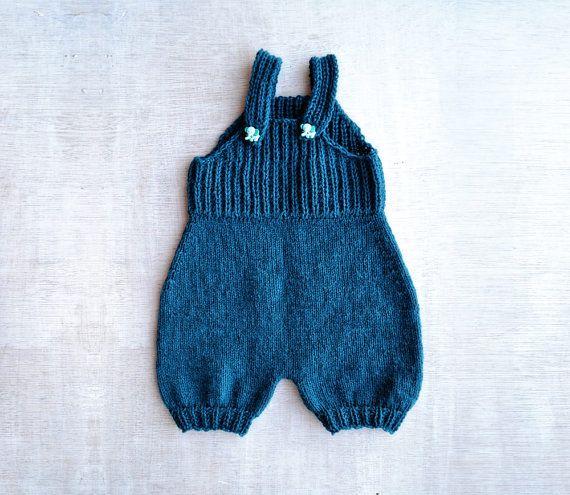 baby romper knitting pattern PDF by Pumora on Etsy