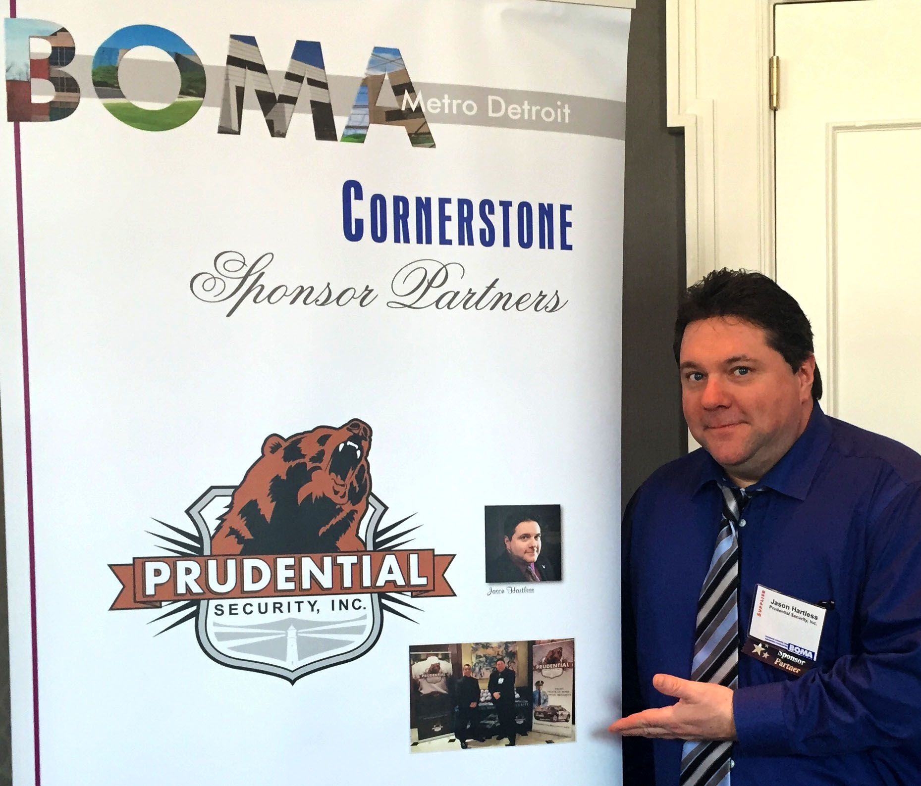 Jason Hartless attending the #2017EconomicForecast, held jointly with #BOMA, #IFMA, #IREM, #CREW & #SMPS at the historic #DearbornInn #PrudentialSecurity #Security #SecurityGuard #SecurityOfficer