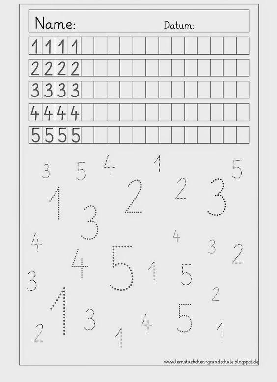 Ziffernschreibkurs - 8 AB´s zur Wiederholung | Math, Kindergarten ...