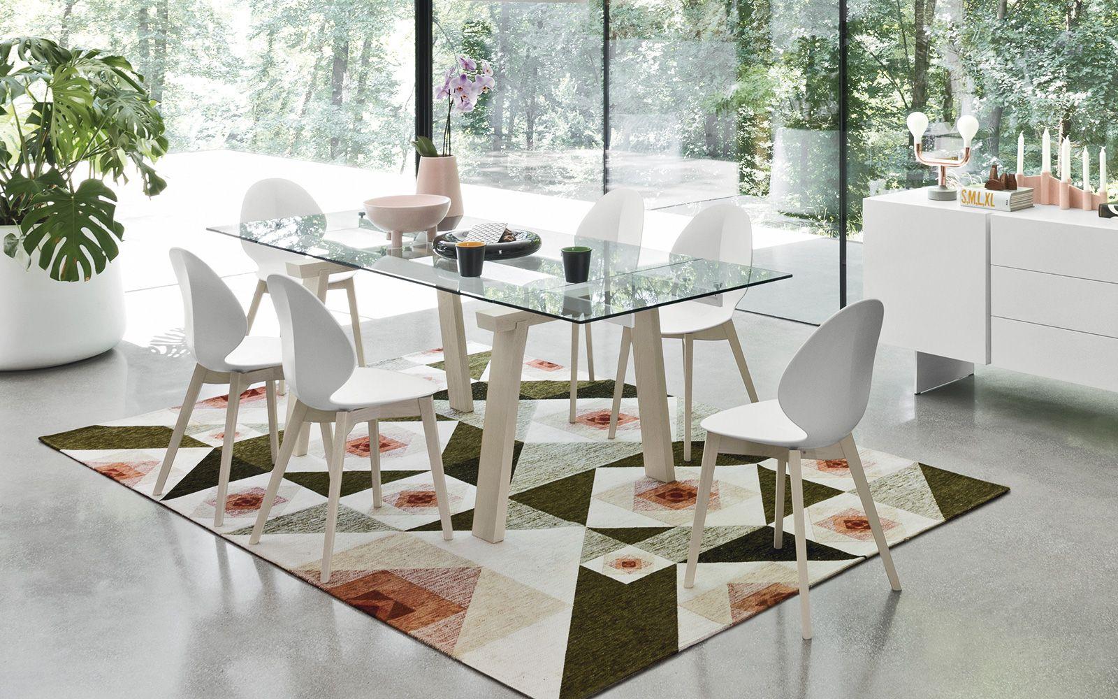 Tavolo nails ~ Tavolo in legno metallo e vetro levante calligaris cs r