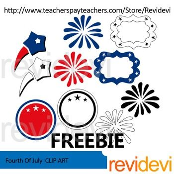 free fourth of july clip art featuring fireworks stars and frames rh pinterest co uk