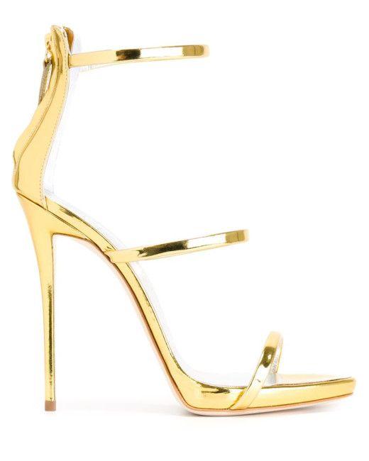GABRIELLE'S AMAZING FANTASY CLOSET   Giuseppe Zanotti   Gold 'harmony' Sandals  