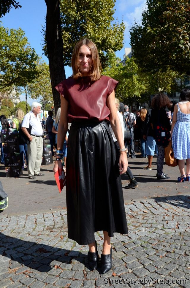 Photo of leather weather. #AnnetteWeber in Paris.