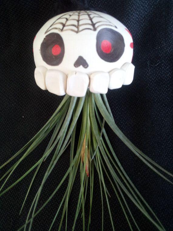 Dia de los Muertos sugar skull container hanging by UrbanSucculent, $78.00