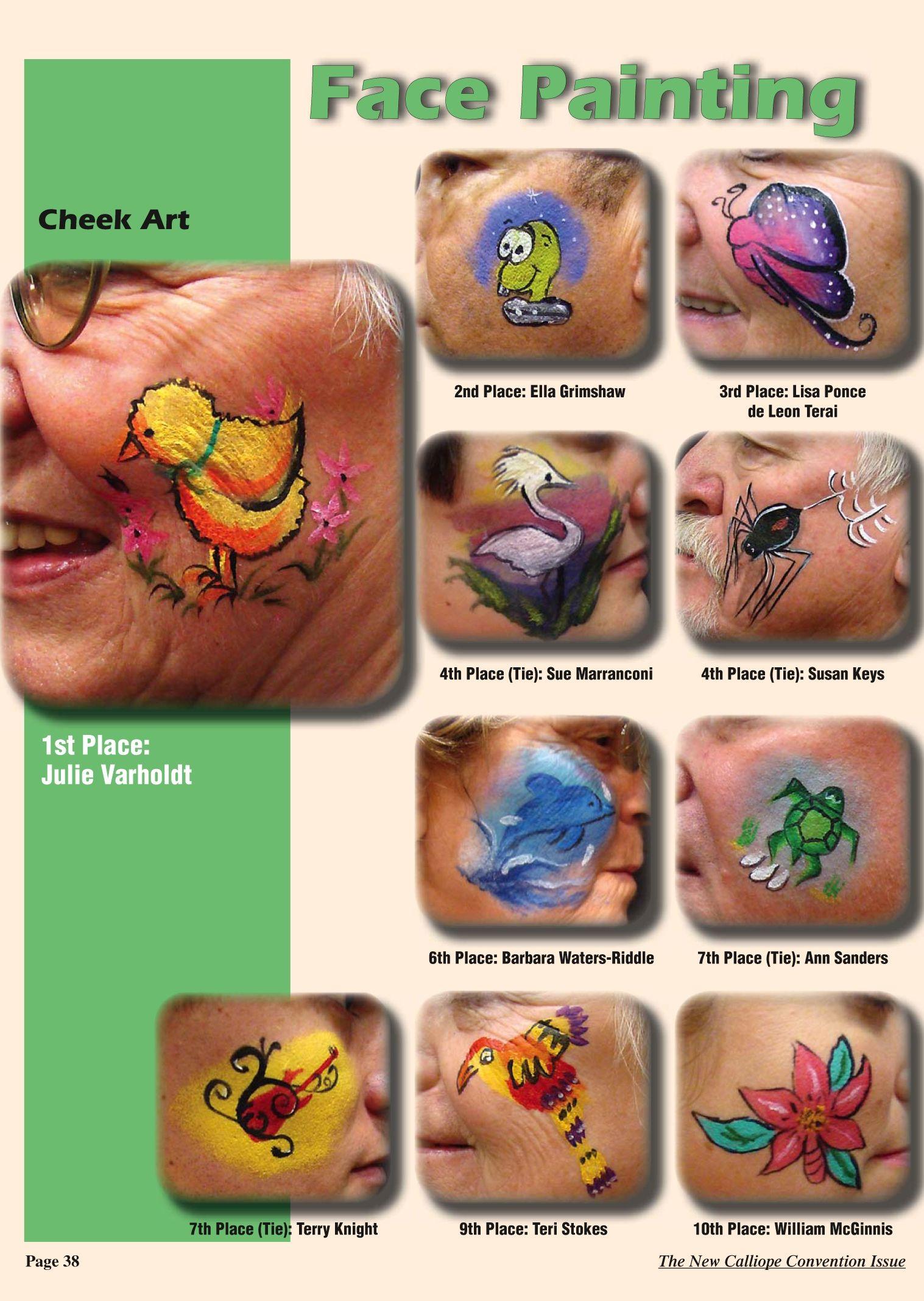 Face Painting Design Sheet For Kids | www.pixshark.com ...