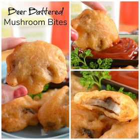 Beer Battered Mushroom Bites Recipe and 20+ Game Day Snacks! #SundaySupper #gamedayfood