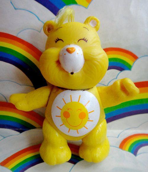 Vintage Care Bears Posable Figure Funshine Bear (via SFMissionFinds)