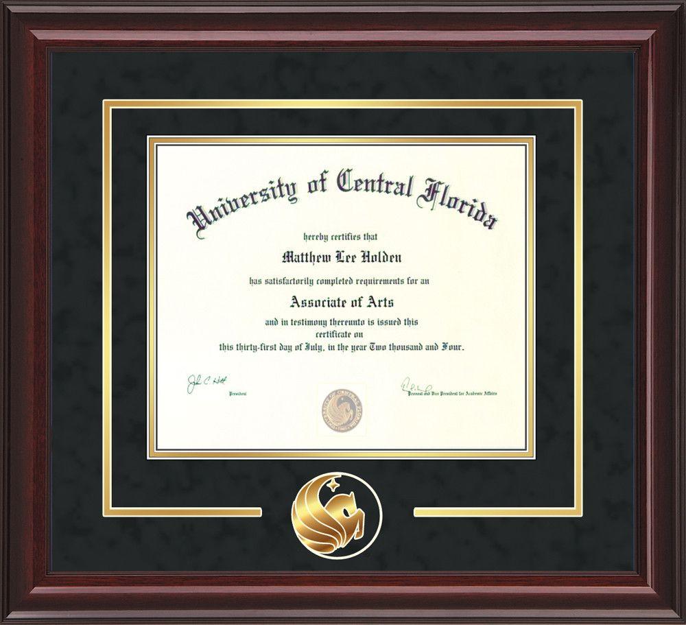 UCF Diploma Frame - Mahogany Lacquer -\